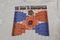 NWT Champion 2000 NCAA Basketball Final Four TEE T SHIRT Medium M