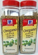 McCormick Oregano Leaves Seasoning 2 Large Bottles 5 oz Each