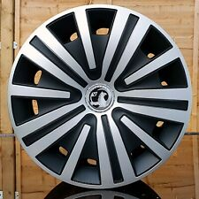 "4x16"" wheel trims to fit Vauxhall Vivaro Silver/Black ( NOT MOVANO)"