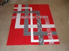 ENDLESS RED # 2 QUILT TOP  50 X 68