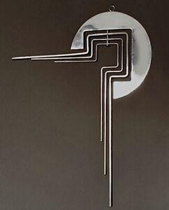 "Superb Vintage Mid-Century Polished Stainless Steel Kinetic Mobile Sculpture 16"""