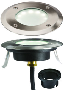 230V IP65 1.2W EXTRA SHALLOW LED RECESSED FIXTURE WHITE GROUND / DECK LIGHT.
