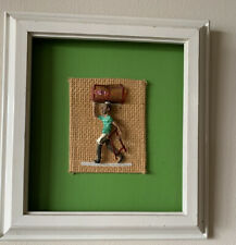 "Haydee Scull Cuban Artist 12x12"" Rare Framed Art."