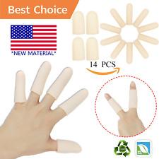 Gel Finger Cots, Finger Protector Support14 PCS *New Material* Finger Gloves,