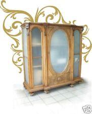 Schrank antik SALON VITRINE um 1880 Historismus Medaillon Verglaste Antiquität