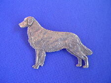 Flat coated Retriever pin Standing #77A Pewter dog jewelry by Cindy A. Conter