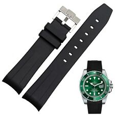 20mm Stripe Rubber Watch Band Strap with buckle for ROLE X GMT II Submarine Sub