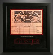 Star Wars - Ep VI - ROTJ Signed Production Storyboard - Falcon Cockpit  (J17)