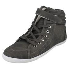 Stivali e stivaletti da donna grigi senza marca piatto (meno di 1,3 cm)
