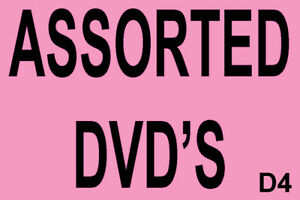 Assorted DVD Movies * FREE POSTAGE * Alphabetical drop down menu * D4