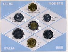 REPUBBLICA ITALIANA - SERIE MONETE ITALIA DIVISIONALE 1988 _ FDC