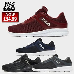 Mens FILA SKIP Trainers Shoes - Sizes 6 to 12 UK - BLACK, NAVY, GREY or RED *New