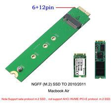 For 2010/2011 MacBook Air A1369 MC503 MC505 To SATA M.2 SSD Convert Adapter Card