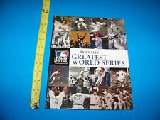 "Baseball  ""Baseball's Greatest World Series""   MLB Insiders Club Book   2008"