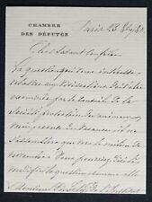 Chirurgien de l'Empereur Hippolyte LARREY autographe / la SPA !