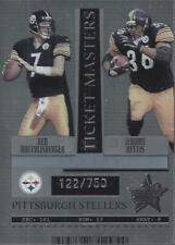 2005 Rookies Stars Ticket Master Silver Season Roethlisberger Jerome Bettis/750