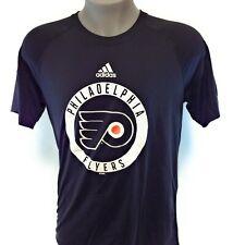 Mens Adidas Philadelphia Flyers Black White NHL Hockey Logo Ultimate Tee T-Shirt