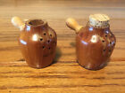 VINTAGE - WOODEN JUGS SALT AND PEPPER SHAKERS  - BRIDAL CAVE CAMDENTON, MO