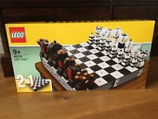 Lego 40174 Iconic Chess Set Checkers Draughts Rare Over 1400 Pieces