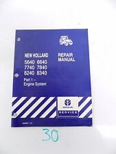 New Holland 5640 6640 7740 7840 8240 8340 Tractor Service Manual Part 1 ONLY