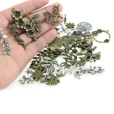 1Set Mixed Leaves Flowers Charm Pendant DIY Jewelry Making Craft FindingsAB