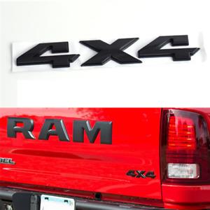 RAM 1500 2500 3500 Bright Black Car Fender Tailgate 4x4 Nameplate Emblem Badge
