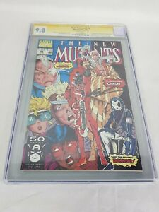 Marvel Comics New Mutant #98 CGC 9.8 Signed Rob Liefeld 1st Deadpool