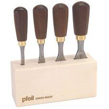 PFEIL MINI chisels 4pc Set d700994 testa Scalpello Set 6 / 12 / 19 / 25 mm