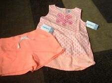 Toddler girls Carter's sleeveless summer outfit peach size 4T(NWT)