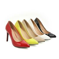 New Womens 5 Color Pointy Toe Stiletto High Heel Dress Pumps Shoes 41/42/43 BB