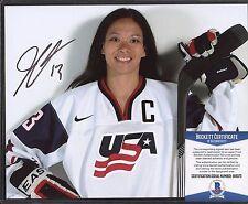 Julie Chu Signed 8x10 Photo Beckett BAS COA AUTO Autograph