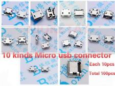 10 Model 100pcs/lot Micro USB 5Pin Jack Tail Micro USB Connector For Smart Phone