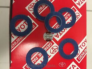 New Genuine Toyota oil filter Sump plug washer each TO9043012031