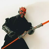"Star Wars DARTH MAUL SITH 12"" Action Figurine Hasbro 1993 Lightsaber Toy RARE"
