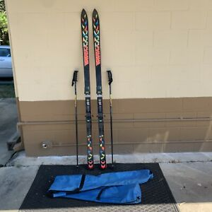 K2 Extreme 8.3 Skis with Marker m27 Bindings Vintage W/ Poles & Bag 190 CM