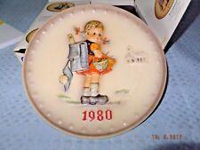 Goebel Mj Hummel Annual Plate 1980 School Girl /With Original Box
