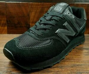 Size 8.5 New Balance 574 mens black sports gym trainers / EU 42.5 sneakers