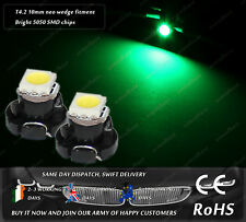LED SMD T4.2 Neo Wedge 1-1210 Green Dashboard Cluster Lights Speedometer Bulbs