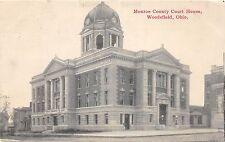B77/ Woodsfield Ohio Postcard 1914 Monroe County Court House
