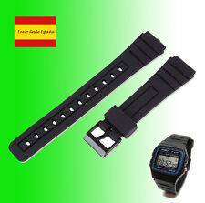 Ricambio per Cinghie Orologio Casio F91w Plastica cinture Per Orologi Nero gomma
