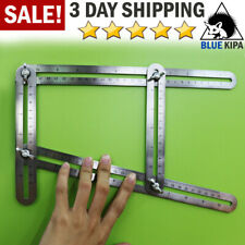 Heavy Duty Stainless Steel Angleizer Template Tool Multi Angle Measuring Ruler