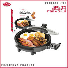 QUEST 1500W NON STICK MULTI FUNCTION ELECTRIC COOKER LARGE PIZZA PAELLAS STEWS