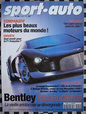 revue sport auto 1999 BENTLEY CONTINENTAL + ARNAGE / AUDI S3 / Z3 / 24 H DU MANS