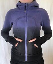 Lululemon Size 4 Scuba Hoodie Zip Jacket Persian Purple Black Dip Dye Yoga