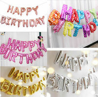 LARGE HAPPY BIRTHDAY SELF INFLATING BALLOON BANNER BUNTING PARTY DECORATION F1