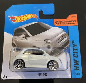 Hot Wheels Fiat 500 White Short Card Rare