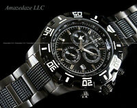 NEW Invicta Men Gun Metal Stainless St. VD53 Chronograph Python Black Dial Watch