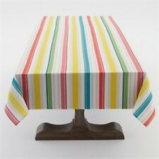 "Sunny Stripe Indoor/Outdoor 60""W x 120""L Tablecloth Multi Colored Stripe"