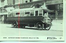 Pamlin repro photo postcard M554 Autocar Services AEC bus Tunbridge Wells c1926