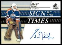2019-20 UD SP Authentic Sign of the Times Auto #SOTT-GF Grant Fuhr